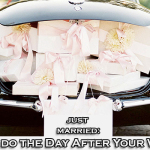Just Married: What to do the Day After Your Wedding