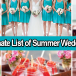 The Ultimate List of Summer Wedding Tips